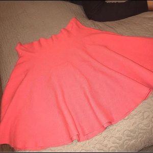 A pink skirt.